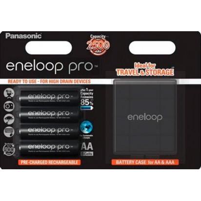 Аккумуляторы Panasonic Eneloop Pro AA 2500mAh 4шт + Кейс