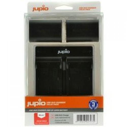 Jupio Kit: 2x NP-FW50 + USB Dual Charger для Sony