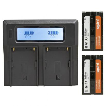 Набор Jupio NP-F970 - 2x battery (6000mah) + Duo Charger
