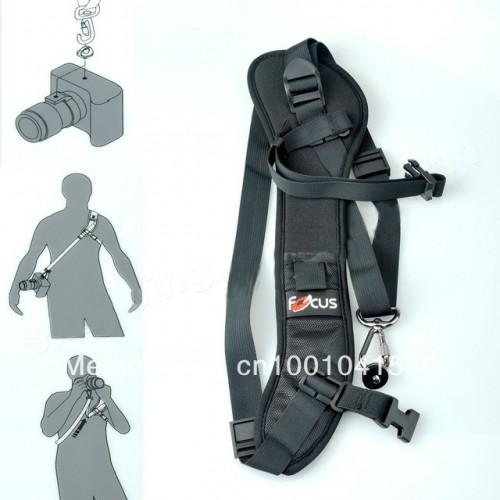 Плечевой ремень  Quick Rapid Camera Single Shoulder Sling Black Belt Strap F1 for DSLR Camera