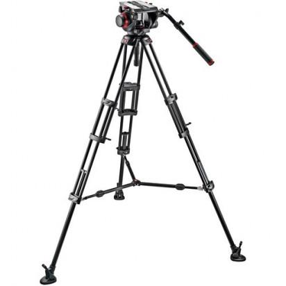 Штатив Manfrotto 509HD Video Head & 545B Aluminum Tripod Pro Middle-Twin Kit 100