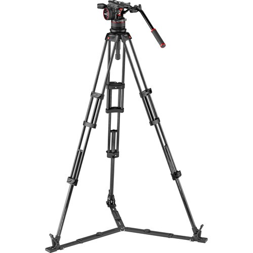 Штатив Manfrotto MVKN12TWINGC Nitrotech N12 Head & Carbon Fiber Twin Leg Video Tripod Kit