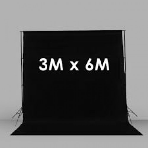 Фон тканевый черного цвета Хромакей 3x6 м