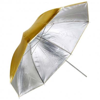 Зонт золото/ серебро, 150см