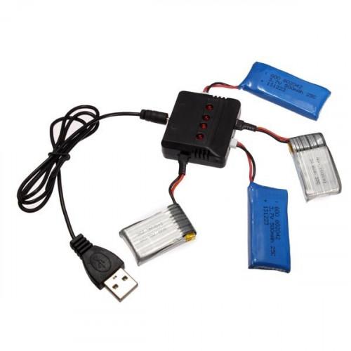 Зарядное устройство для Hubsan H107/Wltoys/Syma X5C на 4 батарейки