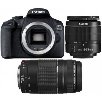 Фотоаппарат Canon 2000D Double DC kit EF-S 18-55mm f/3.5-5.6 IS II + EF 75-300 f/4-5.6 III