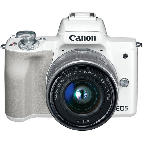 Фотоаппарат Canon EOS M50 kit EF-M 15-45mm f/3.5-6.3 IS STM (Белый)
