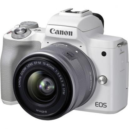 Фотоаппарат Canon EOS M50 Mark II kit EF-M 15-45mm f/3.5-6.3 IS STM (белый)