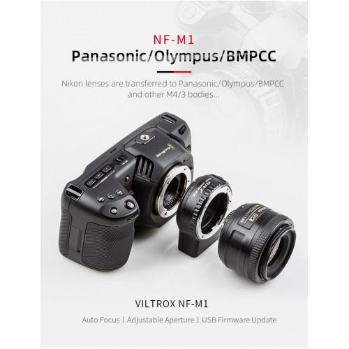 Переходник Viltrox NF-M1 (объективы Nikon на M4/3 Mount)