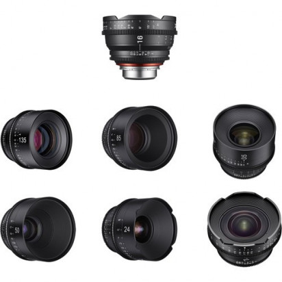 Объективы Samyang Xeen 14, 16, 24, 35, 50, 85 135mm Lens Kit Canon EF