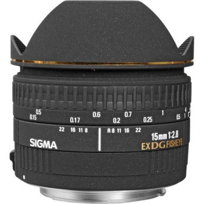 Объектив Sigma 15mm f/2.8 EX DG Diagonal Fisheye для Canon
