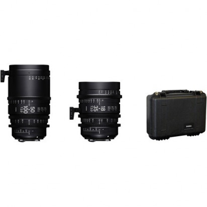 Объективы Sigma 18-35mm & 50-100mm T2 High-Speed Zoom Kit (Canon PL-Mount, Metric)