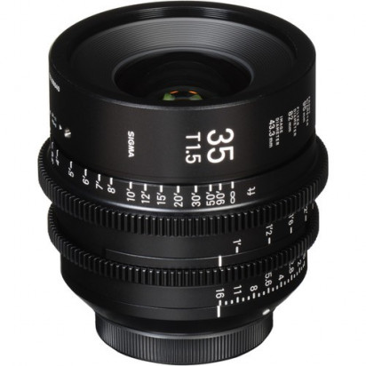 Объектив Sigma 35mm T1.5 FF High-Speed Prime (EF Mount, Meters)