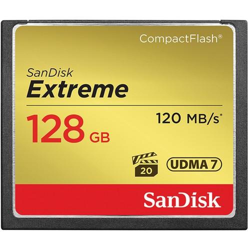 Карта памяти SanDisk Extreme CF 128Gb 120MB/s