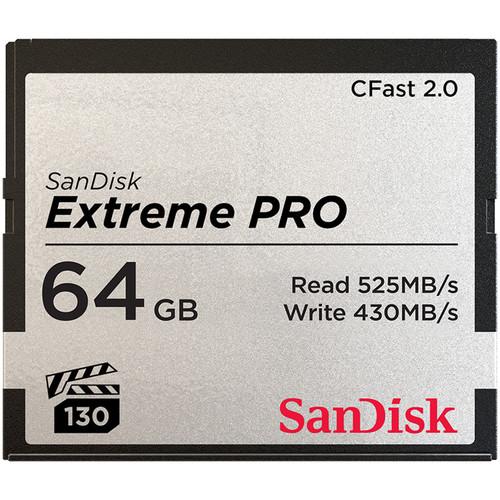 Карта памяти SanDisk 64GB Extreme PRO CFast 2.0