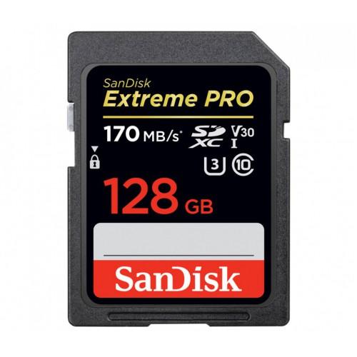 Карта памяти SanDisk Extreme Pro SDXC UHS-I 128Gb 170MB/s