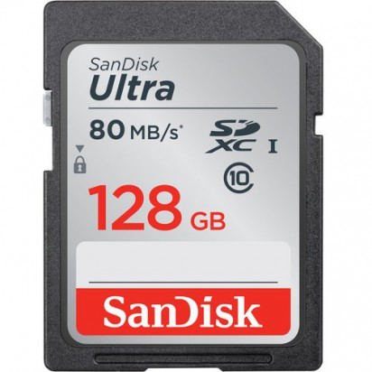 Карта памяти SanDisk Ultra SDXC UHS 128Gb 80 MB/s