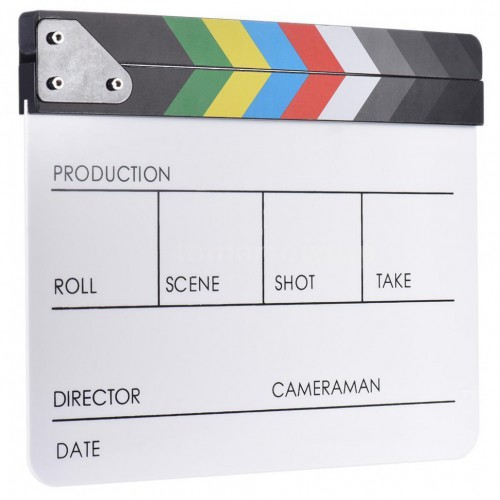 Directors Acrylic Film Movie Cut Action Scene Clapper Board White (ХЛОПУШКА)