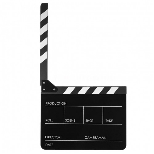 Directors Acrylic Film Movie Cut Action Scene Clapper Board Black (ХЛОПУШКА)