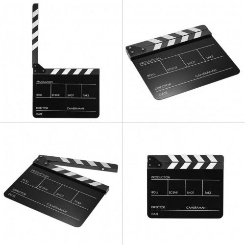 Directors Acrylic Film Movie Cut Action Scene Clapper Board Black (ХЛОПУШКА)
