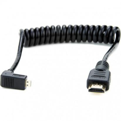 Кабель Atomos Right-Angle Micro to Full HDMI Coiled Cable (11.8 to 17.7