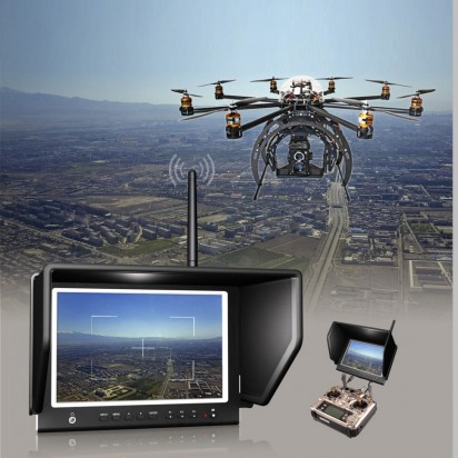 Монитор Lilliput 7″ 664/W FPV Slim Monitor For 5.8GHz Aerial Fly Wireless Camera System with TS832 transmitter