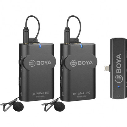 Радио петличный BOYA BY-WM4 PRO-K6 (2 спикера для смартфонов Android Type-C)