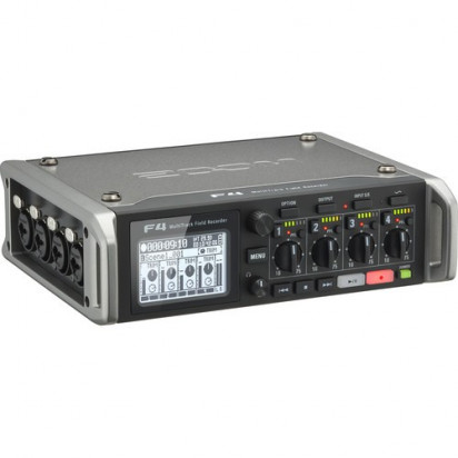 Рекордер Zoom F4 Multitrack Field Recorder с Timecode - 6 Inputs / 8 Tracks
